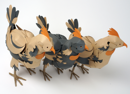 Hermés paper chicken by Andy Singleton