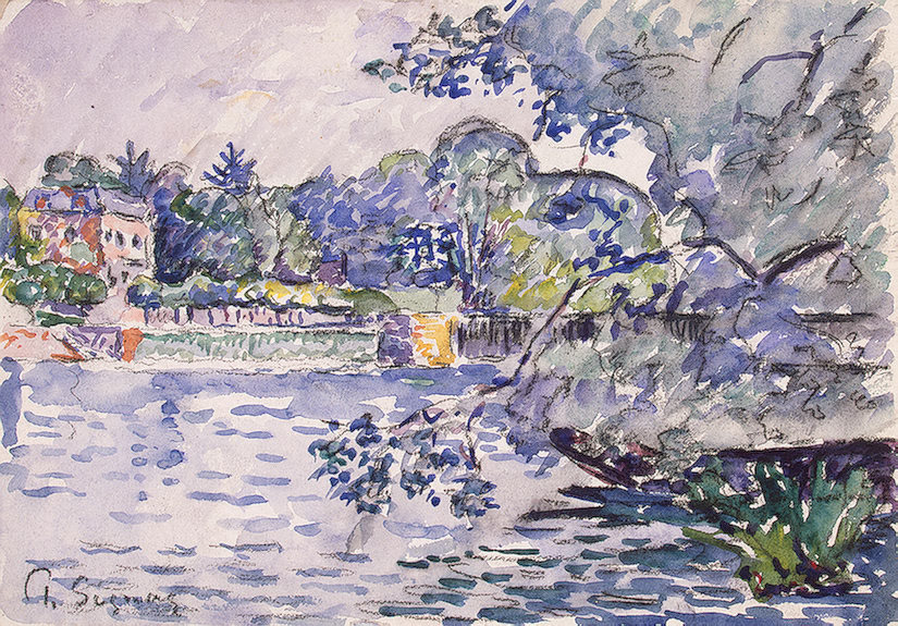 cavetocanvas:  Banks of the Seine - Paul Signac, c. 1900
