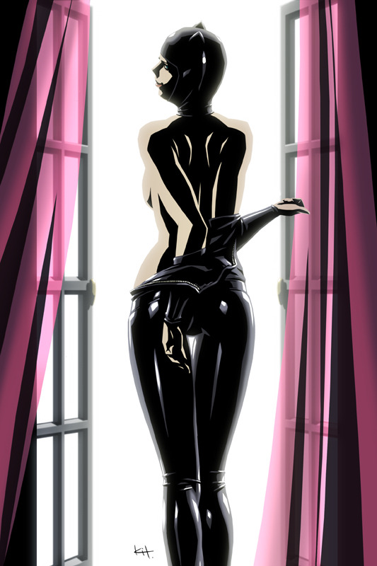 sexncomics:  lulubonanza:  Drawn By Kit *kit-kit-kit Deviantart  Catwoman