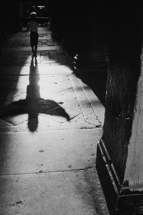 wonderfulambiguity:  Jean Noël de Soye, Shadow of a child playing with his sweater near Saint Marc Plaza, Venice, Italy, 1992-1999