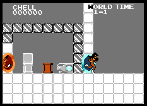 insanelygaming:  Portal 8Bit 1-1 - by BrokenHAX