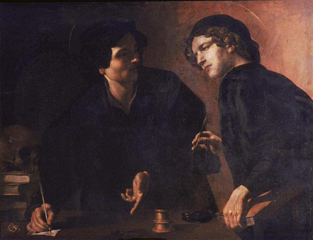 necspenecmetu:  Giovanni Battista Caracciolo (Battistello), Portrait of Two Physicians as Saints Cosmos and Damian, c. 1618