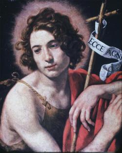 necspenecmetu:  Giovanni Francesco Barbieri (Il Guercino), Saint John the Baptist, 17th century