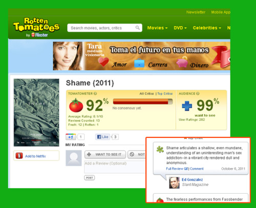 serenissimaluna:  First bad critic in rotten tomatoes ¬¬