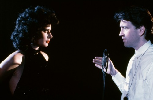 Isabella Rossellini and David Lynch on-set of Blue Velvet (1986)