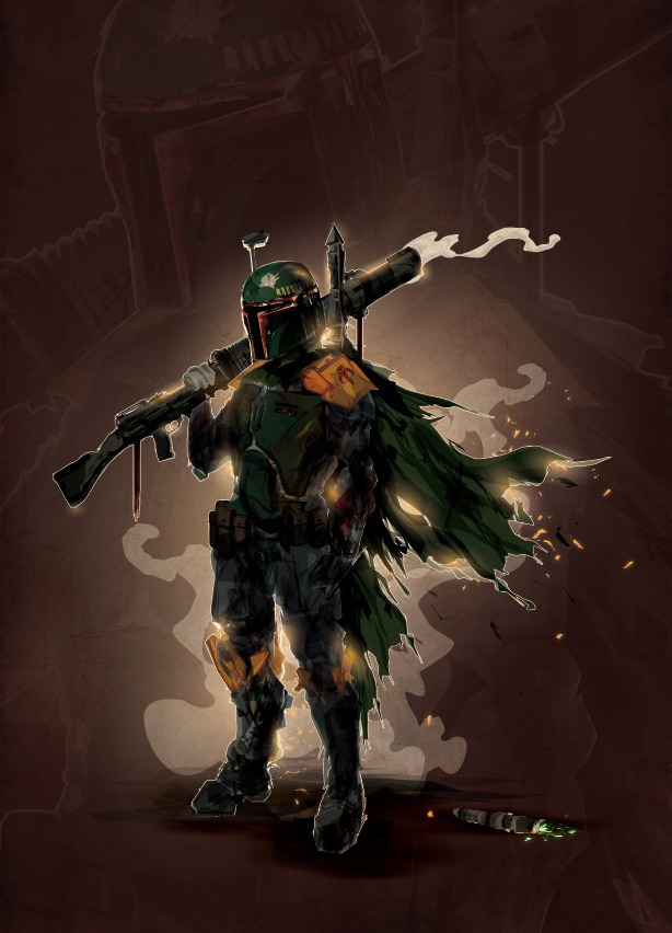 tiefighters:  Boba Fett  - by Justin Currie deviantart || blogspot || tumblr