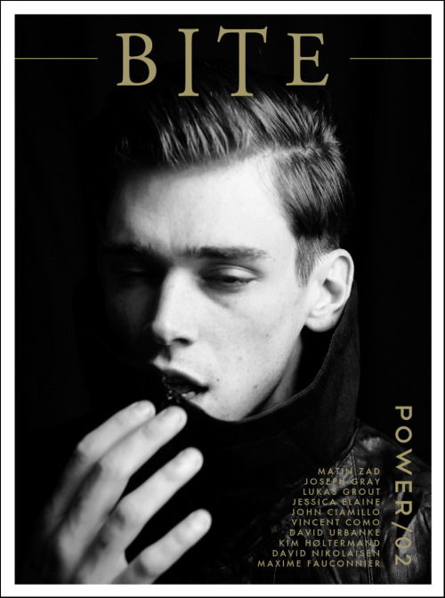 bitemagazine:  BITE Magazine 02 Cover #2 Preview |  Ph: Joseph Gray | Feat. Cole Mohr POWER issue coming soon Facebook | Twitter Stay tuned for previews from the second issue on bite-zine.com daily.
