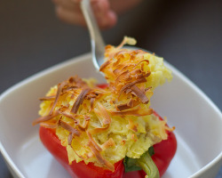 ffoodd:  Mashed Potato Stuffed Bell Peppers (by Jaymi Heimbuch)