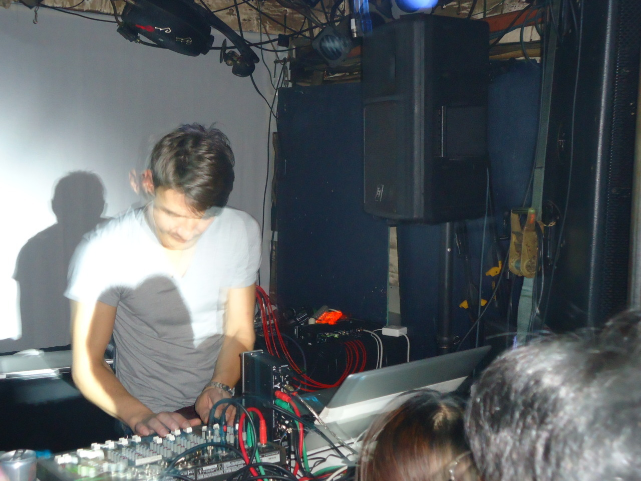 Raster Noton 15th Anniversary Japan Tour.Club Metro, Kyoto. Pics = kinda meh, but whaddya want from a little Sony Cybershot?