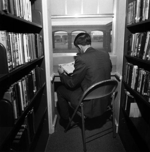 View of a Pine Crest School student reading in the library Fort Lauderdale, Florida by State Library and Archives of Florida on Flickr.