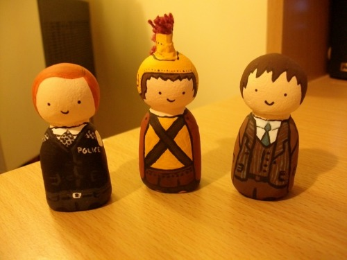 jdorrity:  Unfinished Amy, Rory and Tenth Doctor. I hope to finish them when I go back to school, instead of doing my actual work in my art class… :P