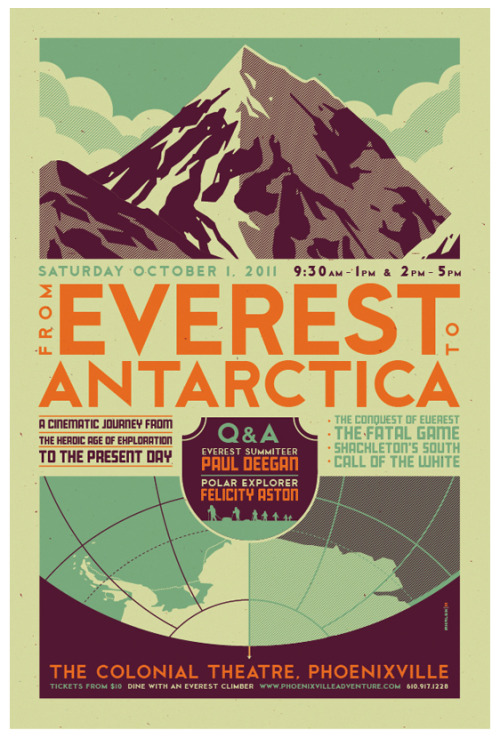 omgawesomeposters:  Everest to Antartica by *strongstuff