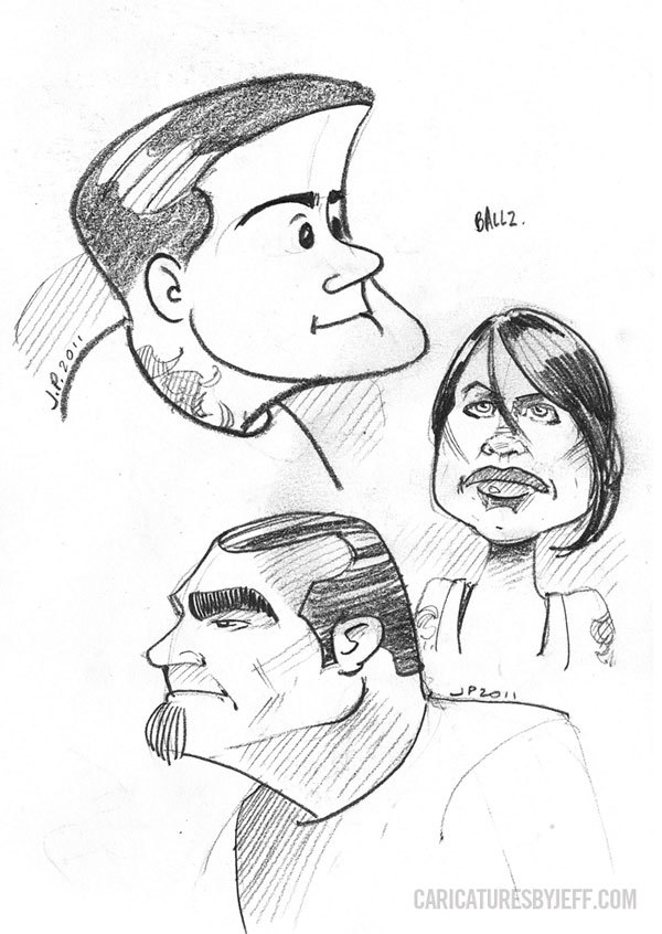 "A few more characters from TV Show ""LA Ink"""