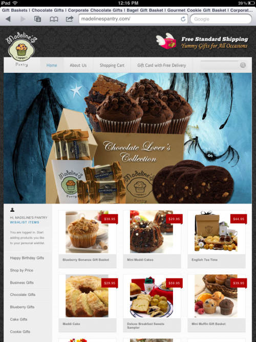 Madeline's Pantry new website …. Get $10 off with promo code: YUMMY107