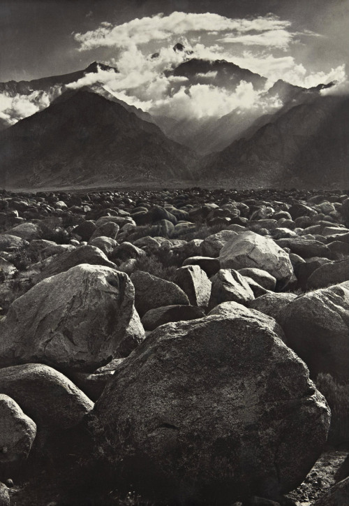 jpegheaven:  Mt. Williamson, Sierra Nevada, from Manzanar photo by Ansel Adams, California 1944  Really love this photo. Classic Adams