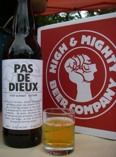 Pas De Dieux by High & Mighty Beer Company. A local saison.