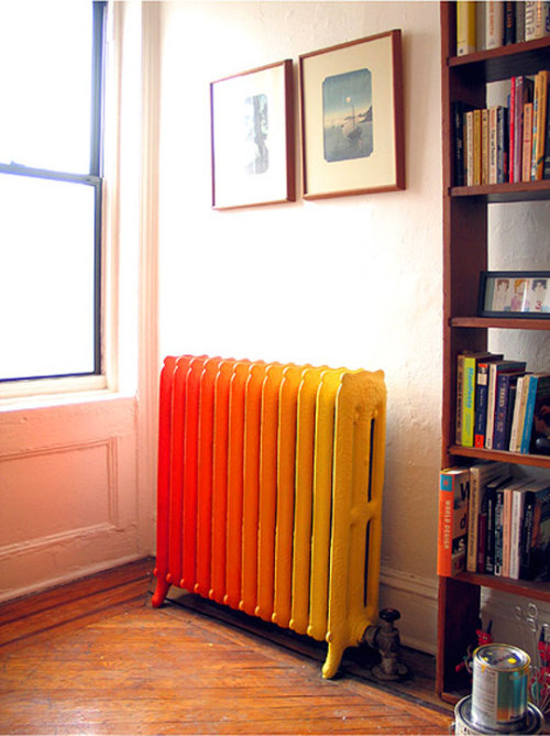 Colorful radiators can be real design objects in your home.