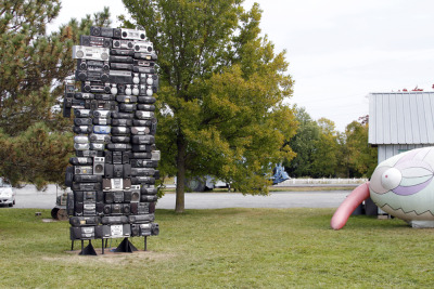 Got The Power: Minnesota Installed at Franconia Sculpture Park in Shafer Minnesota. One Hour outside the Twin cities.