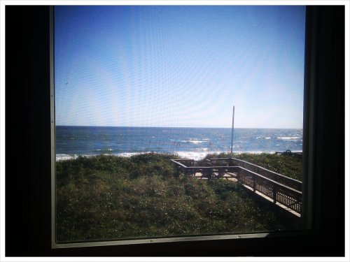 Woke up to this amazing view. I love vacation. (Taken with picplz in Atlantic, NC.)