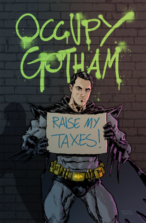 "deantrippe:  ""Occupy Gotham"" by Project: Rooftop Batman 2.0 contest winner, Anjin Anhut."