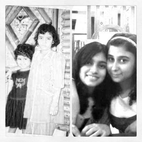 then and now @rerehana  #childhood #memories #instagram #love #me #sister #cousin #now (Taken with instagram)