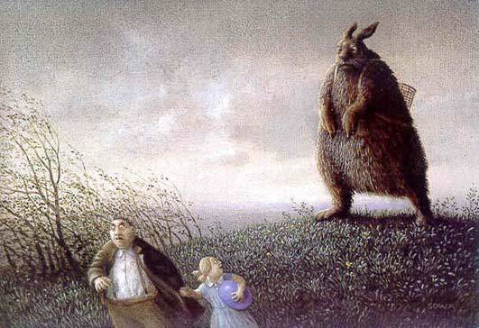 This is my favourite Easter Picture. I saw it some years ago in a card shop in Ilkley. When I wanted to use it in my blog I had no idea how to find it but I described it to Kahlila and she knew what it was straight away and sent me a link. Of course Kahlila spent many hours in her Secret Agent days lurking in Art Galleries with a folded newspaper under her arm containing secret documents or large sums of money in used notes so of course she became very familiar with all kinds of art. Thanks KGB