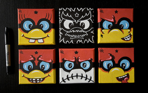 Mini canvases by Crimson Cisa on Flickr.