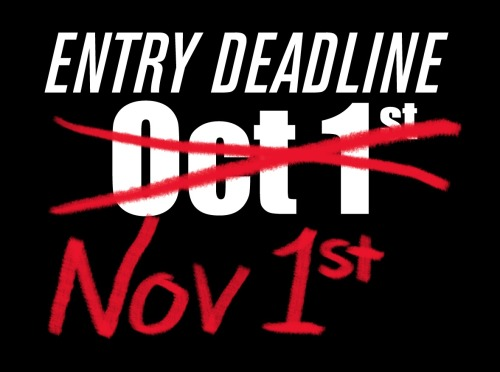 Entry deadline extended to November 1! Thought you missed you opportunity to showcase to monstrous munchie masterpiece in Thicker Than Blood? No so! You now have another 3 weeks to shove your exquisite entries into our art hole. Go to the Submit Now page for entry guidelines.