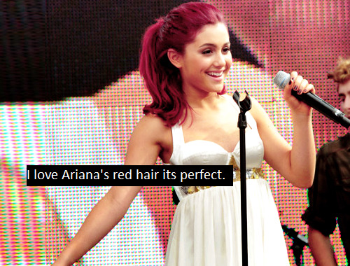 "teencelebconfessions:  ""I love Ariana's red hair its perfect"""
