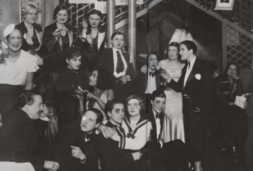 "mcspinsta:  thealligatorschild:   Le Monocle was a well-known lesbian bar located in Montmartre from the 1920s to the early 1940s. It was opened by Lulu de Montparnasse. At the time, Montmartre was the main gathering place for Parisian lesbians who were often seen at Montmartre's outdoor cafes or dancing at the Moulin Rouge. Le Monocle's scene was described by Florence Tamagne thus: ""All the women there dressed as men, in Tuxedos, and wore their hair in a bob.""   The name Le Monocle derived from a fad at the time where women who identified as lesbian would sport a monocle to indicate sexual preference. The writer Colette once observed the fad by describing women in the area as ""often affecting a monocle and a white carnation in the buttonhole.""  #I would like this fashion fad to return please  #ditto to the max"