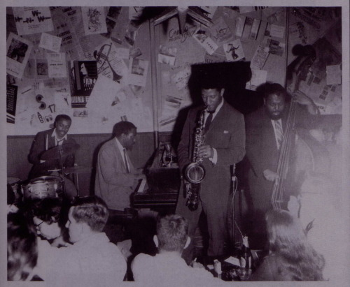 Roy Haynes, Thelonious Monk, Sonny Rollins and Ahmed Abdul-Malik at the Five Spot Cafe NYC, September 1958