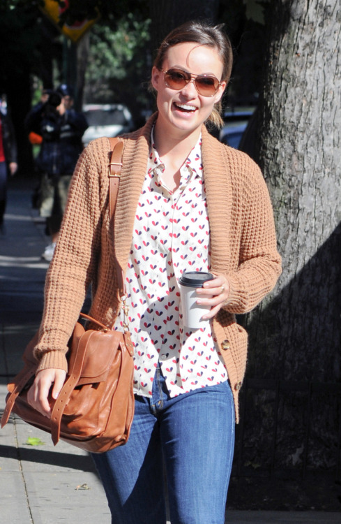 Olivia Wilde after having breakfast in the West Village - October 7, 2011.