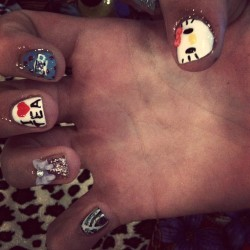 Holly's pick n mix nails! <3 (Taken with instagram)