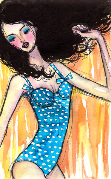*Another day in Paradise* J. Crew, Spring/Summer 2011 Watercolor, ink pencil