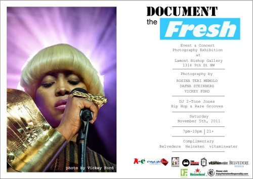 I cordially invite y'all to Document the Fresh —a concert/event photography exhibit featuring ME (@gravity508), Dafna Steinberg (@alizaysteinberg) & Rosina Teri Memolo (@Rosinaphotography)