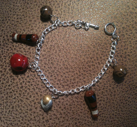 Harry Potter Quidditch Charm Bracelet by deshi on etsy