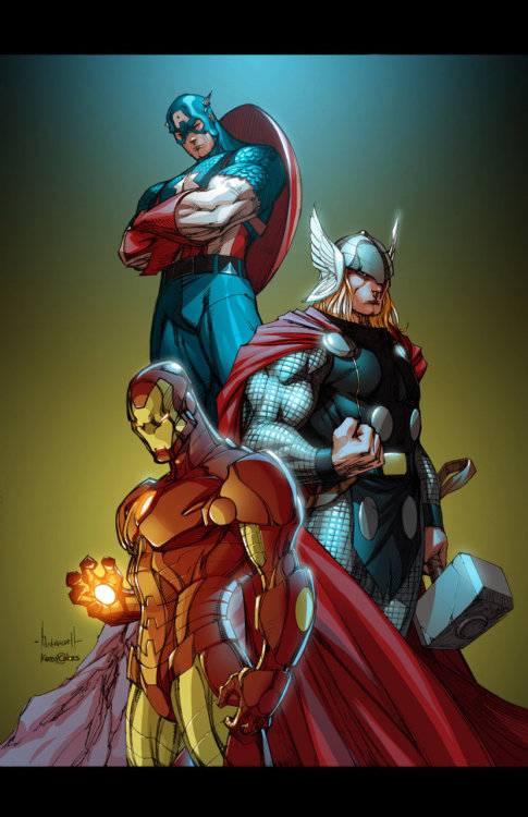timetravelandrocketpoweredapes:  Marvel Guys by Ale Garza  ,