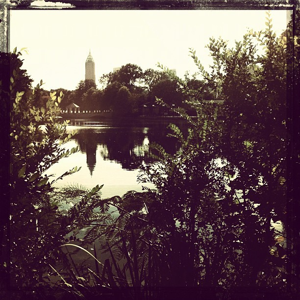 Piedmont Park #atlanta #georgia #park #trees #pond #idreamincolor (Taken with instagram)