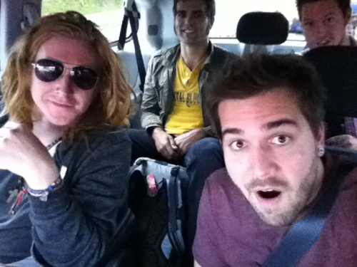On the way to the show at Unv Of West Florida!