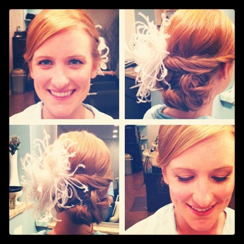 Congrats Kristen, I'm obsessed with this romantic side bun. Hair & Makeup by Clarissa (Taken with instagram)