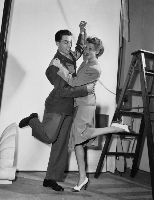 Rita Hayworth dancing with her brother, Vernon, C.1940's