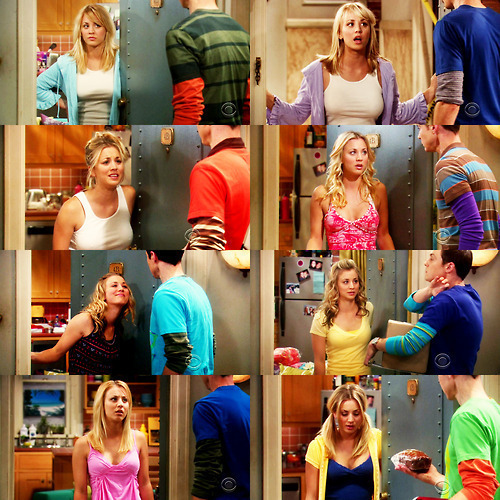 tbbtftw:  One of the things that I love the most about Penny and Sheldon's interaction is her WTF expression xD