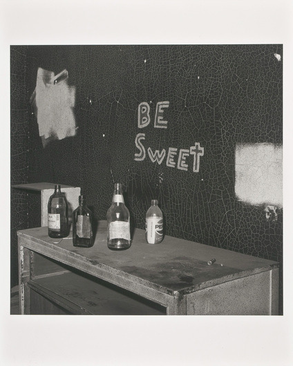 cruiseorbecruised:  Peter Hujar Be Sweet, Newark, 1985Gelatin-silver printunframed: 37 x 37.5 cm