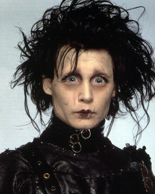 Johnny Depp as Edward Scissorhands with Michele Bachmann eyes.
