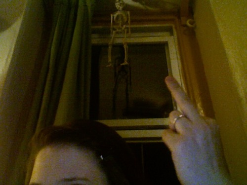 hanging around like dis skeleton / listening to dead kennedys / eating candy corn / drinking snap & waiting for something to happen (duh)