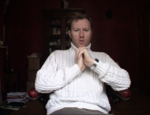 Yes. That is Mark Gatiss in a John-like sweater. I like it too. Yes, yes I do.
