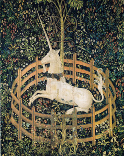blindedwithscience:  Tapestry no. 7: The Unicorn in captivity (detail) by petrus.agricola on Flickr.