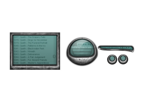 jonathanhaggard:  From 2007. A design for a Winamp skin.