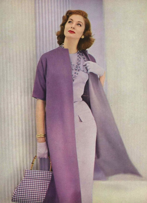 Suzy Parker Photographed by Roger Prigent for Vogue, 1955