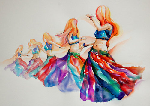 Gorgeous.  'Belly Dancer in Motion' by Gerardo Segismundo